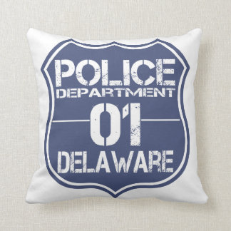 Delaware Police Department Shield 01 Throw Pillow