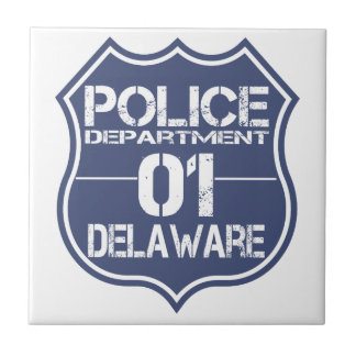 Delaware Police Department Shield 01 Tile