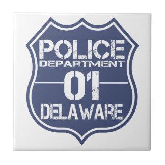 Delaware Police Department Shield 01 Tile