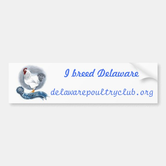 Delaware Poultry Club Bumber Sticker