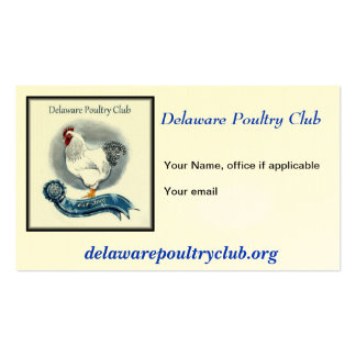 Delaware Poultry Club Business Cards