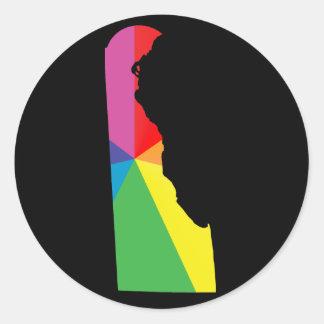 delaware pride. classic round sticker