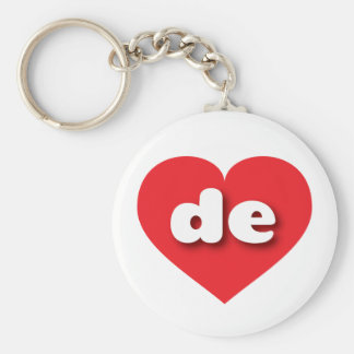Delaware red heart - mini love basic round button keychain