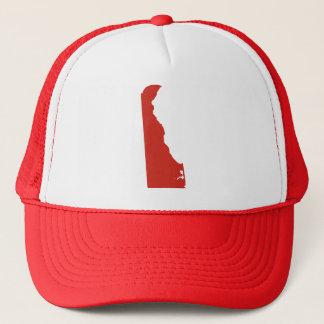 Delaware Red State Snap Back Mesh Trucker Hat