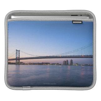 Delaware River, Ben Franklin Bridge iPad Sleeves