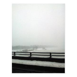 Delaware river ice jams postcard