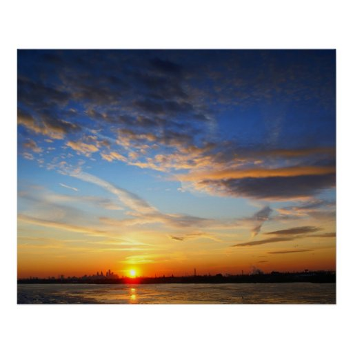 Delaware River Sunset Posters