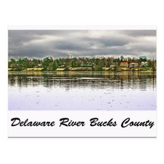 Delaware RiverBucks County Postcard