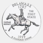Delaware Round Stickers