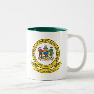 Delaware Seal Two-Tone Coffee Mug