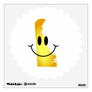 Delaware Smiley Face Wall Sticker
