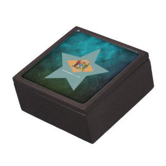 Delaware Star Design Flag Premium Keepsake Box