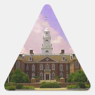Delaware State Capital Triangle Sticker