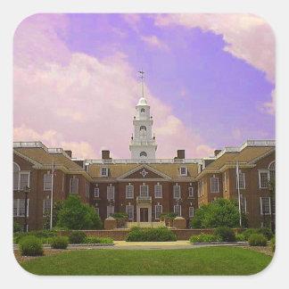 Delaware State Capital Square Sticker