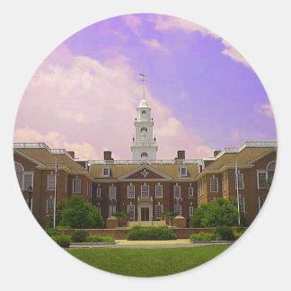 Delaware State Capital Round Sticker