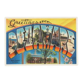 Delaware State DE Old Vintage Travel Postcard- Placemat