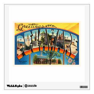 Delaware State DE Old Vintage Travel Postcard- Wall Sticker