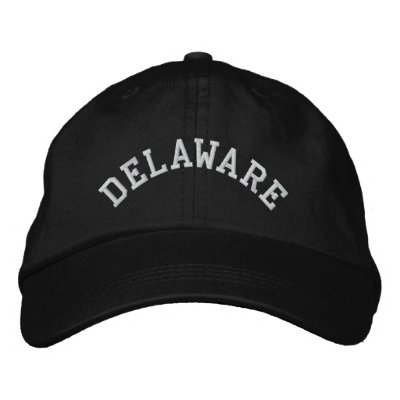 Delaware State Embroidered Embroidered Hat