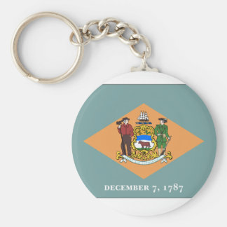 Delaware State Flag Basic Round Button Keychain