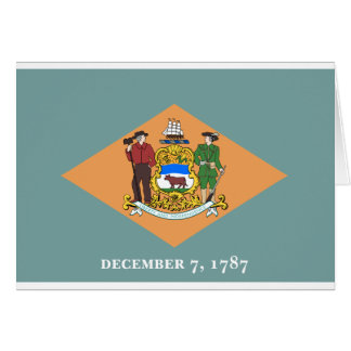 Delaware State Flag Card