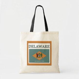 Delaware State Flag Design Budget Canvas Bag