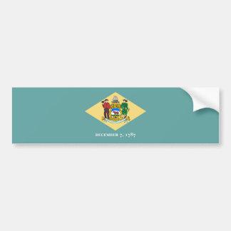 Delaware State Flag Design Bumper Sticker