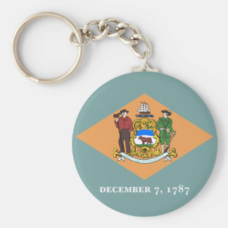 Delaware State Flag Key Chains