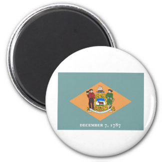 Delaware State Flag 2 Inch Round Magnet
