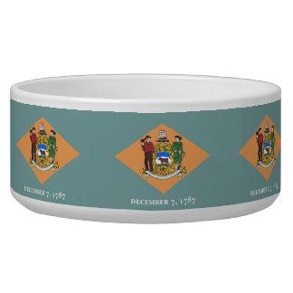Delaware State Flag Pet Bowl