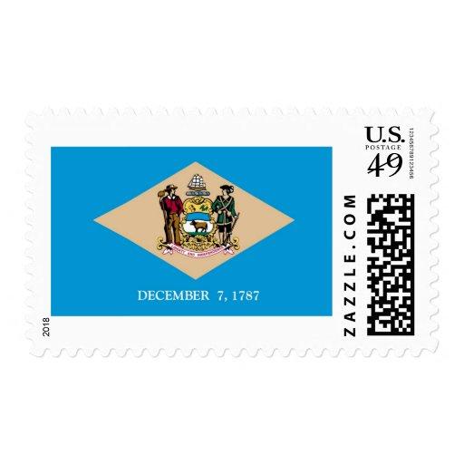 Delaware State Flag Postage Stamp