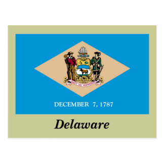 Delaware State Flag Postcard