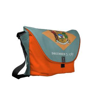 Delaware State Flag Rickshaw Messenger Bag