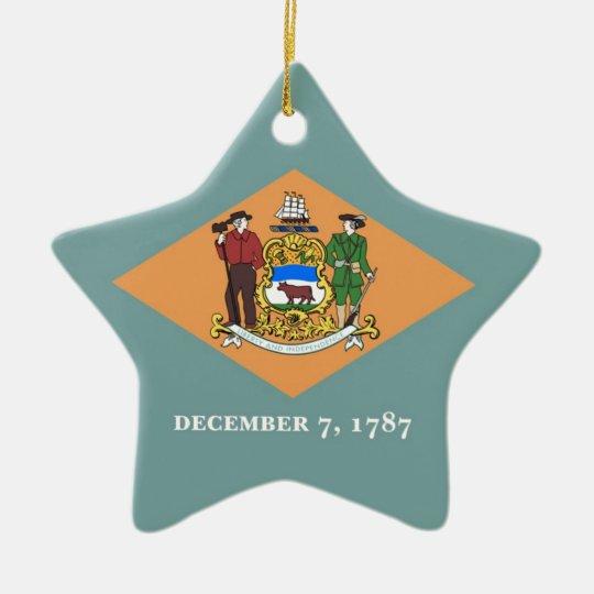 Delaware State Flag Star Ornament