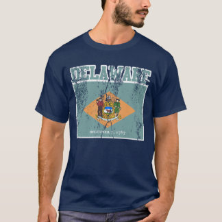 Delaware State Flag T-Shirt (Distressed)
