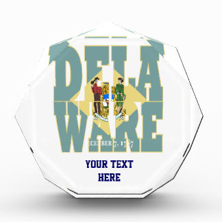 Delaware state flag text award