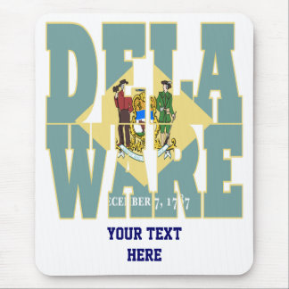 Delaware state flag text mouse pad