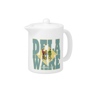 Delaware state flag text teapot