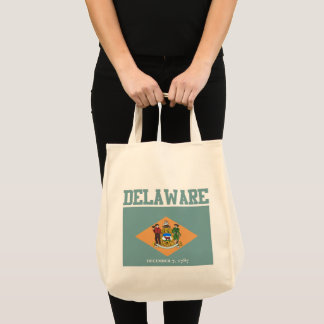 Delaware State Flag Tote Bags