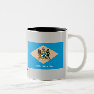 Delaware State Flag Two-Tone Coffee Mug