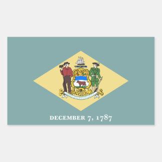 Delaware State Flag, United States Rectangular Sticker