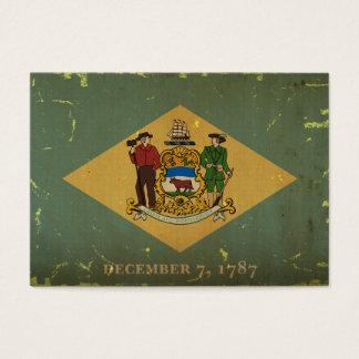 Delaware State Flag VINTAGE.png Business Card
