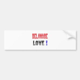 Delaware State Love !!!! Bumper Stickers