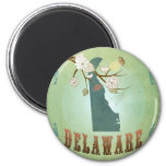 Delaware State Map – Green Refrigerator Magnets