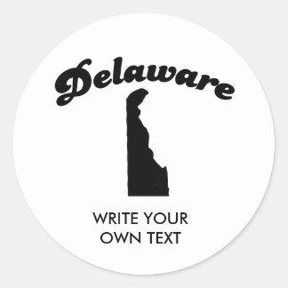 DELAWARE STATE MOTTO T-SHIRT CLASSIC ROUND STICKER
