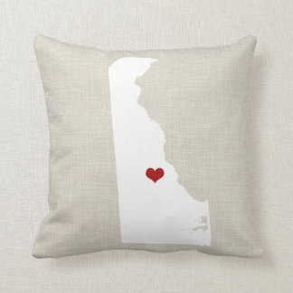 """Delaware State New Home Throw Pillow 16"""" x 16"""""""