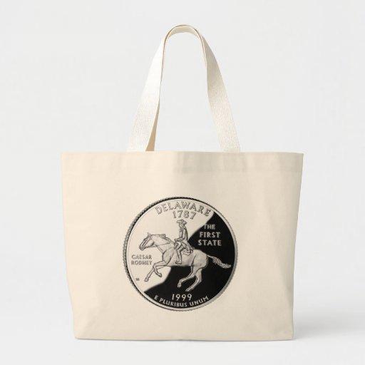 Delaware State Quarter Tote Bag