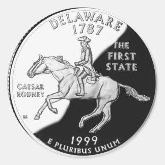 Delaware State Quarter Sticker