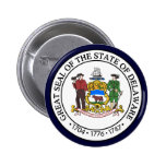 Delaware State Seal 2 Inch Round Button