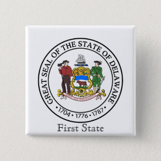 Delaware State Seal and Motto Button