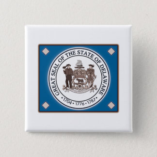 Delaware State Seal Button
